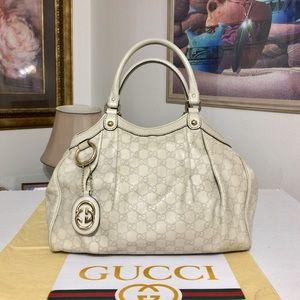 GUCCI Guccissima Sukey MM Tote Bag 💼